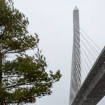 The Penobscot Narrows Bridge bridge, linking Verona Island and Prospect over the Penobscot River.