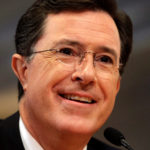 Stephen Colbert meets with members of the Federal Election Commission (FEC) in Washington June 30, 2011.