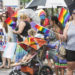 BANGOR, Maine -- 062417 -- Several hundred people participated in the Bangor Pride parade in Bangor on Saturday despite drizzly conditions. Nick Sambides Jr. | BDN