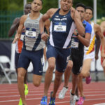 Isaiah Harris of Penn State places second in 800m heat in 1:46.62 to advance during the NCAA Track and Field Championships on June 7 in Oregon.