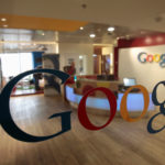 The Google logo is seen on a door at the company's office in Tel Aviv, Jan. 26, 2011.