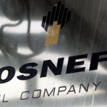 A logo of Russian state oil firm Rosneft is seen at its office in Moscow, Oct. 18, 2012. Rosneft was among those reportedly hit by a widespread cyberattack that hit Europe on Tuesday.