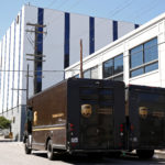 United Parcel Service vans are seen parked outside a UPS facility in San Francisco, June 14, 2017.