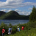 People enjoy the views near Jordan Pond in Acadia National Park, June 30, 2016.