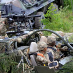 U.S. Army soldiers attend the 2017 Iron Wolf exercise in Stasenai, Lithuania, June 20, 2017.