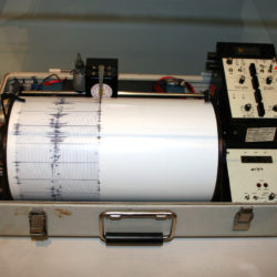 A seismograph used by the U.S. Department of the Interior