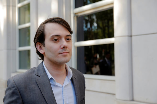 Martin Shkreli, former CEO of Turing Pharmaceuticals and KaloBios Pharmaceuticals Inc, departs after a hearing at U.S. Federal Court in Brooklyn, New York, June 26, 2017.