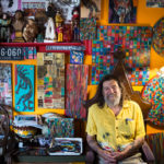 Portland artist Zoo Cain sits in his St. John Valley neighborhood apartment on Tuesday. Cain says he's been an artist his whole life.