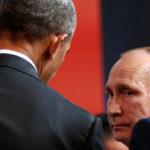 U.S. President Barack Obama talks with Russian President Vladimir Putin