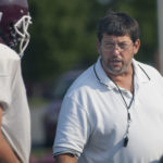 Haggie Pratt, pictured working as the head football coach at Nokomis High School in Newport in 2012, has left his post as the head coach at Mount View High in Thorndike to become the associate head coach at John Bapst Memorial High School in Bangor.