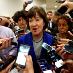 Susan Collins (R-ME) speaks to reporters after Senate Republicans unveiled their version of legislation that would replace Obamacare on Capitol Hill in Washington, U.S., on June 22, 2017.