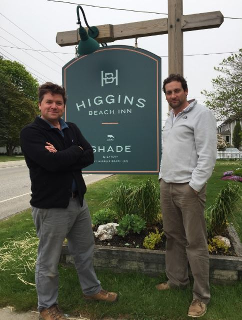Jesse Henry (left) and Phil Kronenthal of the new Higgins Beach Inn have revived this classic seaside stay.