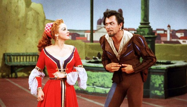 "Kathryn Grayson can barely listen to Howard Keel plead ""Kiss Me Kate""- in 3D!"