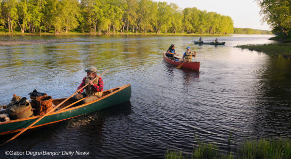 Paddlers enjoy a day on the East Branch. Photo by Gabor Degre | BDN
