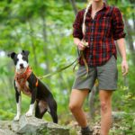 Aislinn Sarnacki on the trail with her dog Oreo