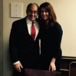 Suzie Paradis at right seen here with Congressman Bruce Poliquin has been promoted to manage the public relations and marketing duties for the Town of Madawaska.