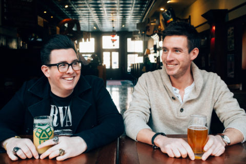 Kevin (left) and Matty Oates have a podcast called Bach to Bock focused on classical music and beer.