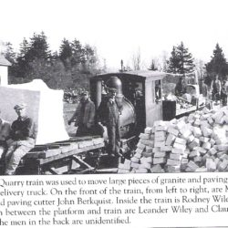 Claude Wiley on the Wildcat Quarry Train