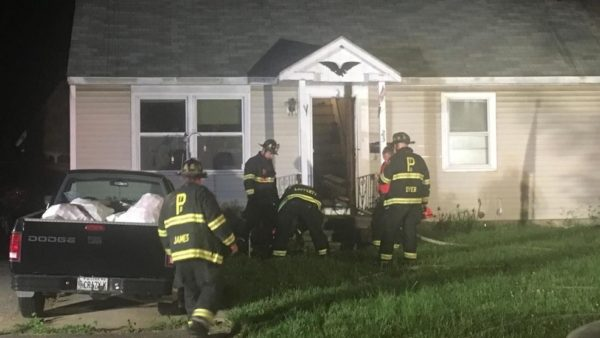 Four people were hospitalized following a fire in Portland late Thursday night.