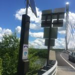 This crisis hotline phone and three others located on the Penobscot Narrows Bridge will be repaired this week after intermittent problems over the last few months.