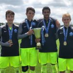 Bangor area boys Tyler Welch, Jack Bourassa, Christian Quinones and Colin Waterman from the Seacoast United U19 Premier team that won the US Soccer National Championship on 7/24/17