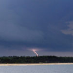 Lightning strikes in Old Orchard Beach in 2012.