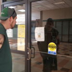 John Pillsbury Jr.was among several Bangor-area residents who showed up to the Bangor branch of the Bureau of Motor Vehicles on Monday only to find the doors locked due. Monday marked the first regular business day the BMV and many other government agencies closed its doors as a result of the shutdown.