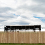 The fence surrounding Bangor Waterfront Concerts.