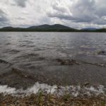Township 1, Range 12, MAINE -- 06/27/17 -- Waves lap the shore of Second Roach Pond at the end of Hinkley Cove Trail on June 27, near the Appalachian Mountain Club's Medawisla Lodge and Cabins on Second Roach Pond, in a township just east of Kokadjo.