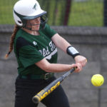 Olivia King, pictured playing for the Old Town High School softball team in 2016, is transferring to the Taft School in Connecticut to play hockey, field hockey and softball.