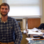 Wiscasset Town Planner Ben Averill on his last day at work Friday.