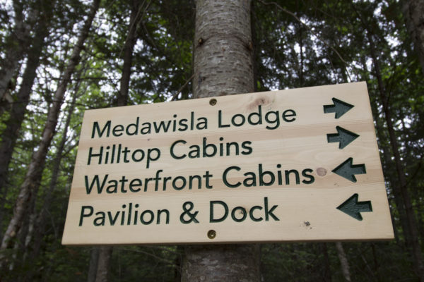 The Appalachian Mountain Club's Medawisla Wilderness Lodge and Cabins were completely reconstructed and reopened on July 1. A wide, smooth path connects the buildings on the campus, which includes two bunkhouses, a bathhouse, a pavilion, a main lodge, several outbuildings and private cabins.