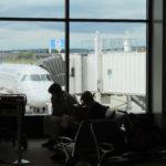 Passengers wait to board their flights at Portland International Jetport in 2013.