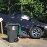 Kennebunk police say this truck was involved in a fatal collision with a woman on a bicycle. (Courtesy of Kennebunk police)