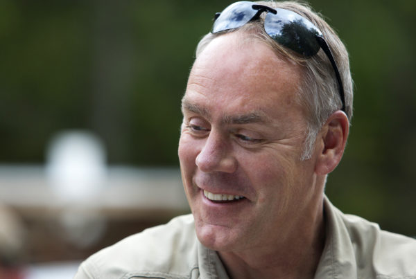 Secretary of the Interior Ryan Zinke, here visiting Maine's national monument in June, is due to advise President Trump on the monument next month.