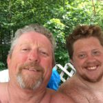 Michael Spaulding (left) with his son, Michael J. Spaulding, 21, of Gorham. The elder Spaulding was one of three victims in a shooting in Madison.
