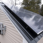 This solar shed is the result of collaboration between the Unity-based Backyard Buildings LLC. and the Pittsfield-based Insource Renewables.