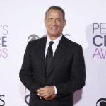 Actor Tom Hanks arrives at the People's Choice Awards 2017 in Los Angeles, California, Jan. 18, 2017.