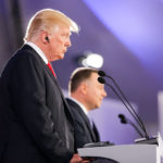 President Donald Trump and Polish President Andrzej Duda (not in picture) attend a media conference in Warsaw, Poland July 6, 2017.