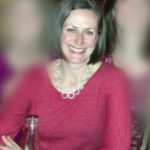 Katherine Moxham, 46, of Kennebunk died after she was hit by a truck while bicycling.