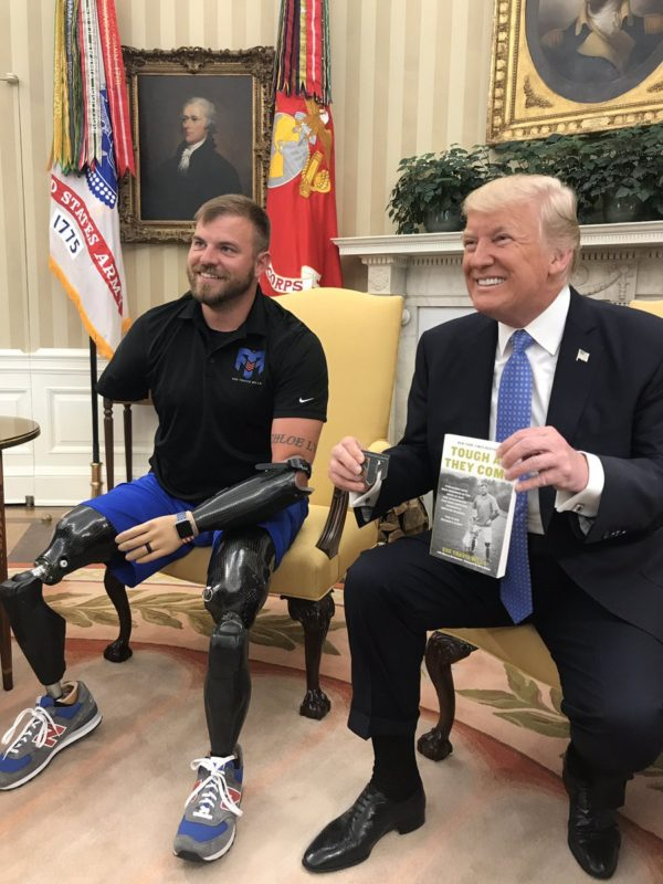 Maine veteran who founded retreat for injured vets meets trump courtesy of travis mills m4hsunfo