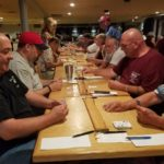The competition was fierce but friendly at the Lobster Peg-Off, an American Cribbage Congress-sanctioned tournament held Friday, Saturday and Sunday at Seasons Grille and Sports Lounge in Bangor. About 100 competitors from Maine, several other states and Canada competed.