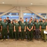The Maine Forest Service sent this 20-member crew of wildland firefighters to Montana to help put out some of the large fires that have been burning out there since the beginning of the week.