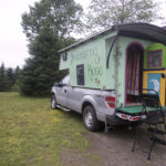 "Pat Guerard of Portland, Connecticut, has spent the past year touring the country in her hand-crafted ""Gypsy caravan"" she named Wandering Rose. The caravan was constructed by John Kaznecki of South Thomaston."