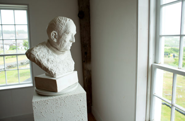 A bust of Andrew Wyeth in the museum on Allen Island.