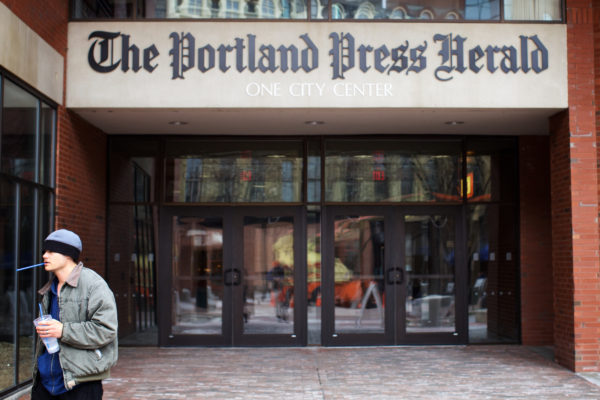 The Portland Press Herald and Maine Today Media offices in One City Center in Portland.