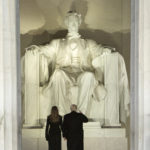 """Donald Trump and Melania Trump arrive at the """"Make America Great Again Welcome Celebration"""" concert at the Lincoln Memorial in Washington, D.C., Jan. 19, 2017."""