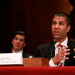 Ajit Pai, Chairman of the Federal Communications Commission, testifies before a Senate Appropriations Financial Services and General Government Subcommittee on Capitol Hill in Washington, U.S., June 20, 2017.