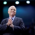 Sen. John McCain, R-Arizona, at a campaign rally in Fayetteville, North Carolina, Oct. 28, 2008.