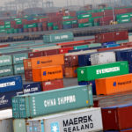 Shipping containers are seen at the Port Newark Container Terminal in Newark, New Jersey, U.S. on July 2, 2009.